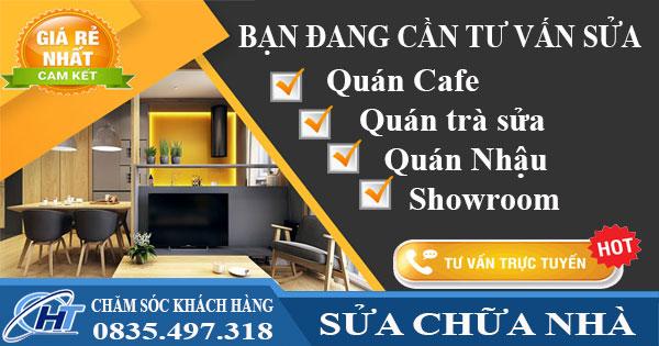 Báo giá sửa chữa quán ăn - Quán cafe - Nhà hàng - Quán nhậu