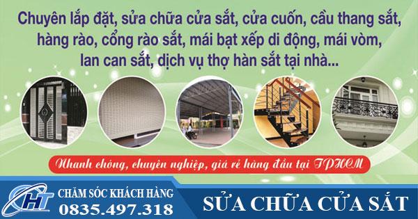 Sửa cửa sắt tại nhà